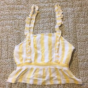 Cute yellow and white crop top